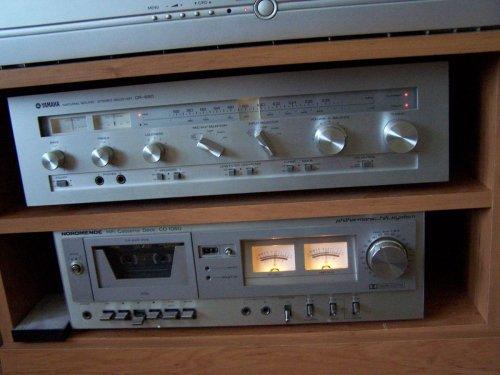 Yamaha CR-620 reciever és Nordmende CD-1050 deck