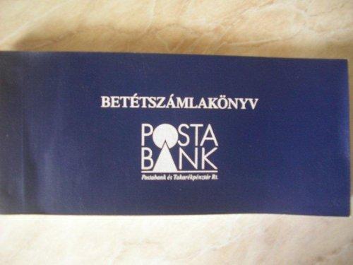 Posta Bank Betétszámlakönyv