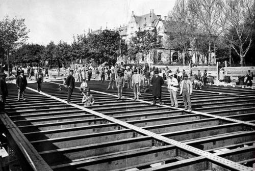 Millenniumi Földalatti vasút építése (Andrássy út)