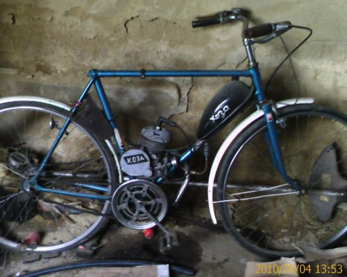Orosz dongó motoros bicikli