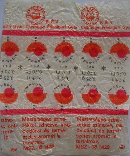 Csemege rágógumi papír 1db-os