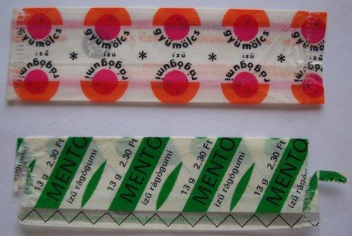 Csemege rágógumi papír 4 db-os