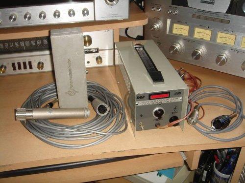 Neumann M582/M62 mikrofon EAG AT501-típ. tápegységgel