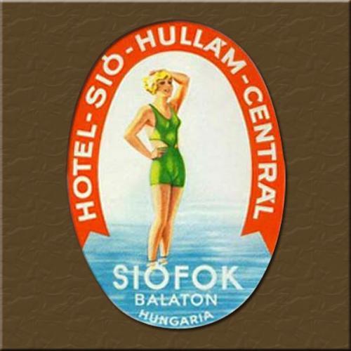 Siófok Hotel Hullám bőröndcímke