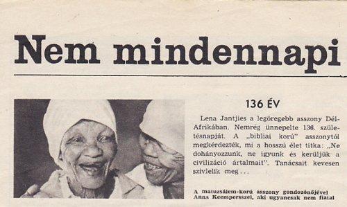 Lena Jantjies 136 éves