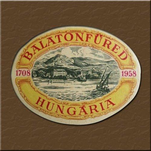 Balatonfüred  bőröndcímke