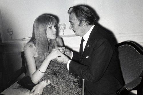 Amanda Lear és Salvador Dalí