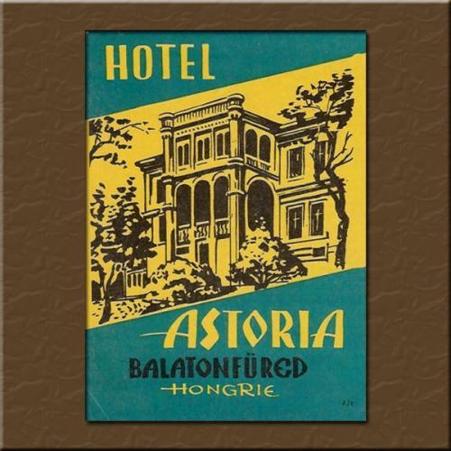 Balatonfüred Hotel Astoria bőröndcímke