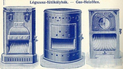 gáz (légszesz) kályhák