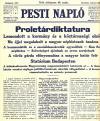 Pesti Napló újság proletárdiktatúra cikk