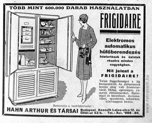 Frigidaire hőtőszekrény