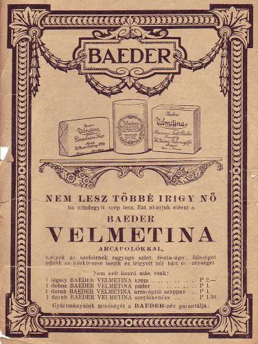 Baeder Velmetina arcápolók