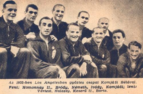 vizilabda olimpiai bajnokaink 1932-ben