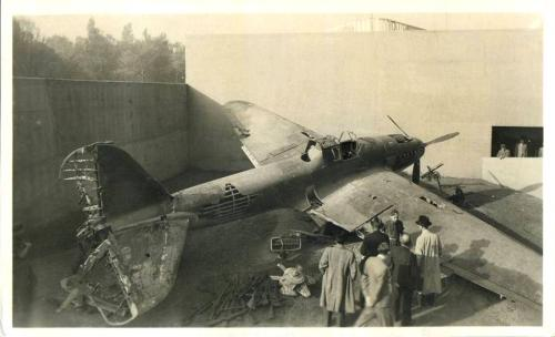 Szovjet lelött repülőgép