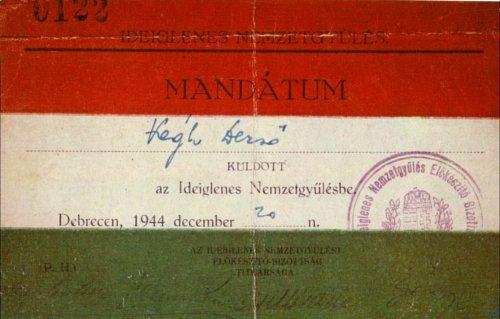 mandátum az Ideiglenes Nemzetgyűlésbe