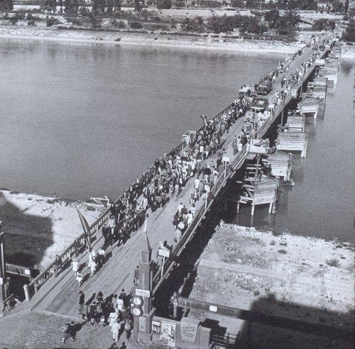Manci híd előtti ideiglenes cölöphíd