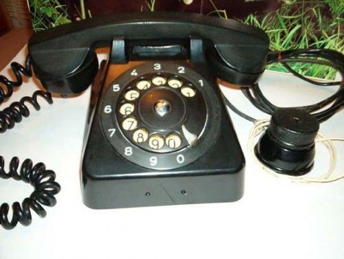 CB555 tárcsás telefon (fekete)