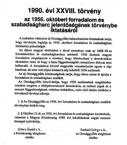 Az 1990 évi XXVIII. tv.