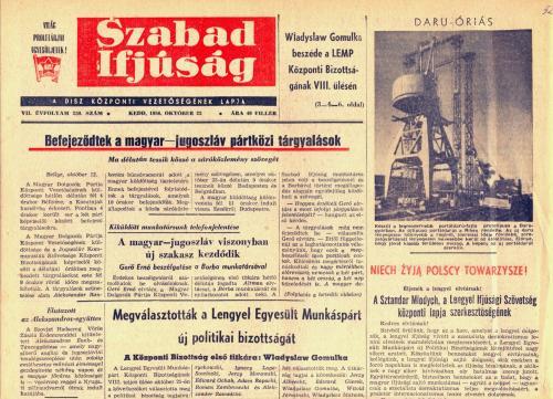 Szabad Ifjúság - 1956 október 23