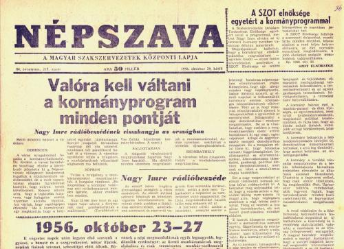 Népszava - 1956 október 29