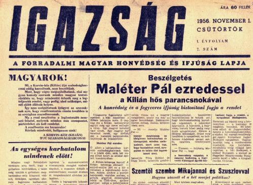 Igazság - 1956 november 1