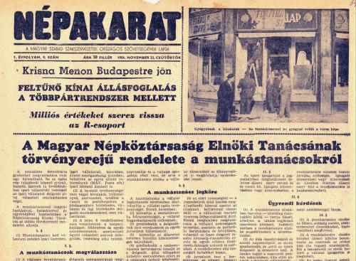 Népakarat - 1956 november 22