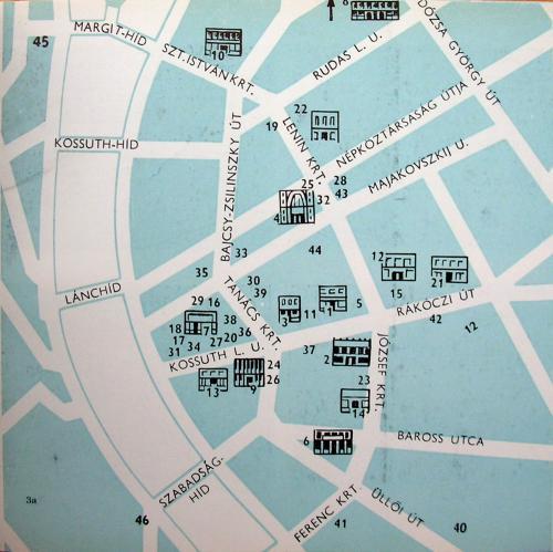 Kossuth-híd és Erzsébet híd hiánya térkép