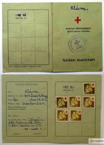 Vöröskereszt Tagsági Igazolvány