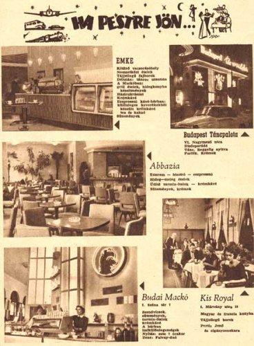 Éttermek és szórakozóhelyek
