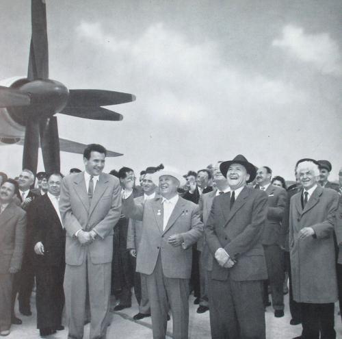 Kádár János - Hruscsov Tu-114