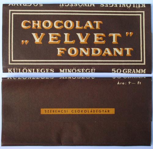 Szerencsi Velvet csokoládé