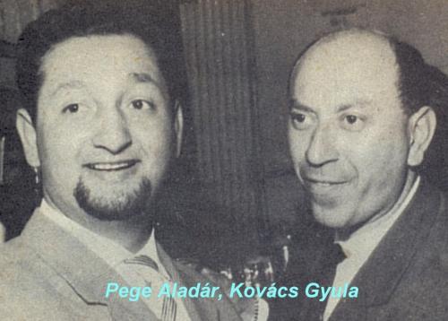 Pege Aladár és Kovács Gyula