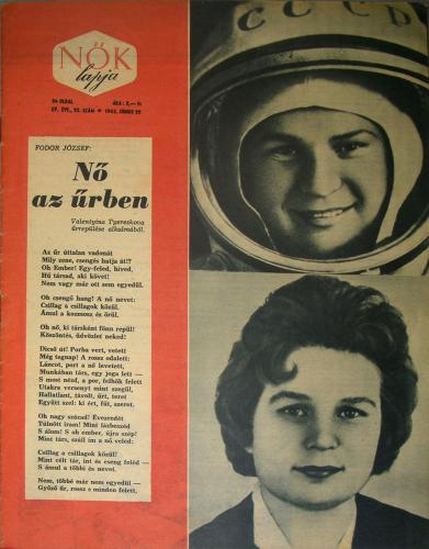 Tyereskova első űrhajósnő