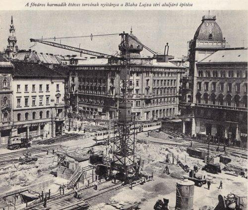 Blaha Lujza tér aluljáró építés