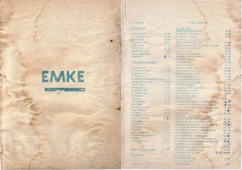 EMKE espresso étlap 2