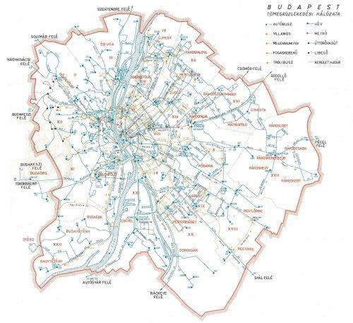 Budapesti tömeközlekedési térkép