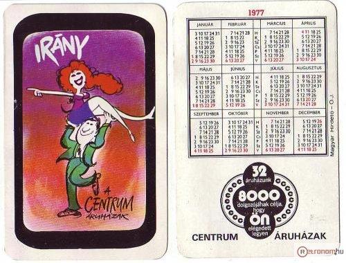 Centrum Áruház naptár