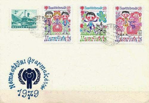 Nemzetközi Gyermekév boriték bélyeg