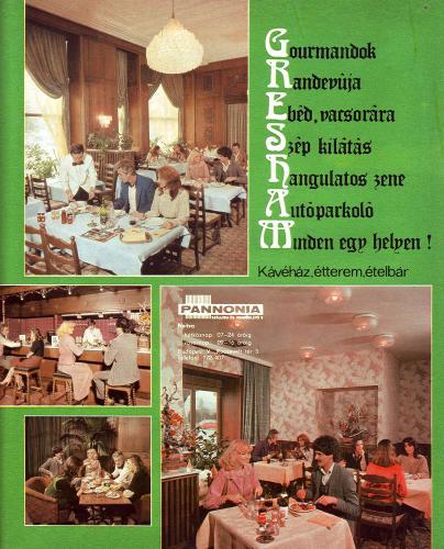 Gresham kévéház étterem