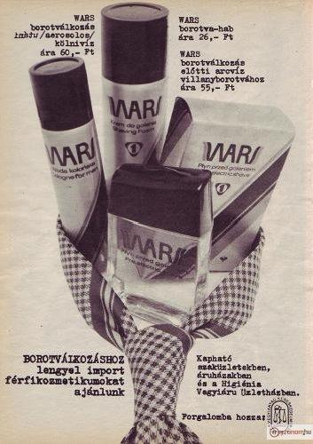WARS férfikozmetikumok