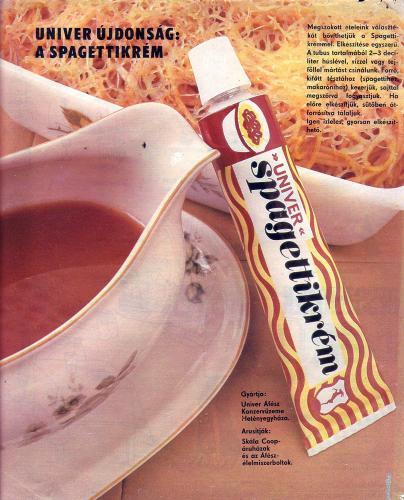 Univer spagettikrém