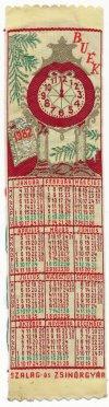 Szőttes könyvjelző naptár
