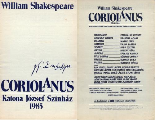 Katona József Színház - Coriolanus