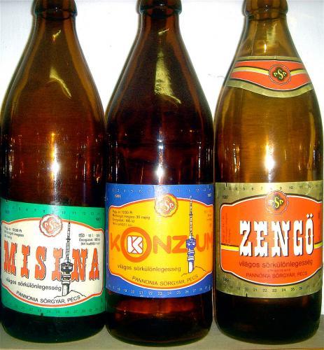 Pannónia Sörgyár sörösüvegek
