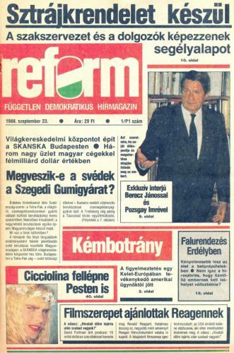 Reform újság - független demokratikus hírmagazin