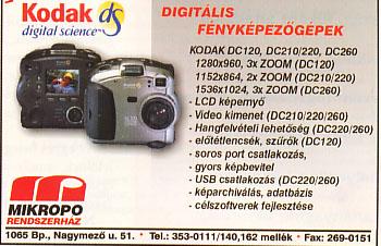 Kodak digitális fényképezőgépek