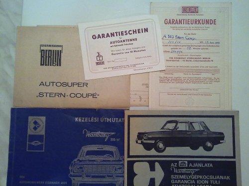 Wartburg 353 kézikönyv stb
