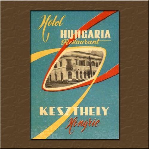 Keszthely Hotel Hungária  bőröndcímke