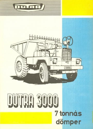 Dutra dömper - Dutra 3000 prospektus