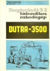 Dutra rakodó - Dutra 3500 prospektus